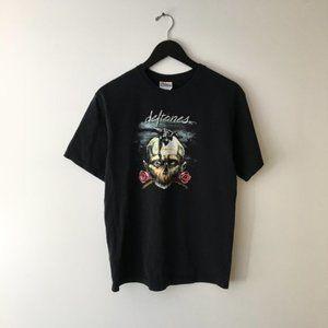 Vintage Deftones Graphic Tee Shirt Tour Concert M